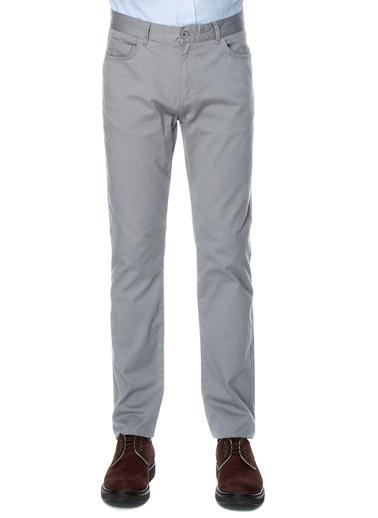 Limon Company Limon Gri Boru Paça Kanvas  Klasik Pantolon Gri